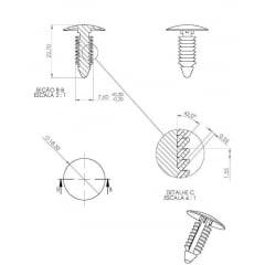 Grampo Para-choque Radiador Spoiler Lateral Explorer F250 F350 F1000 F4000 Ranger 10 Pcs 85
