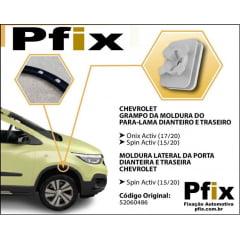 Grampo Moldura Para-lama e Porta Onix Spin Activ 10 Pcs 513