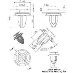 Grampo Coluna Lateral do Porta-Malas Forro da Porta Mazda CX5 10 Pcs 147