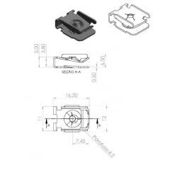 Porca Rápida Painel Console Bmw Serie 1 3 7 X1 X6 10 Pcs 25