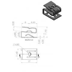 Porca Rápida do Painel de Instrumentos Console Central Porta-Luvas 500 Brava Bravo Doblo Idea Linea Marea Mobi Palio Punto Stilo Strada Ducato 10 pcs 12