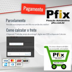 Grampo Para-barro Para-lama Peugeot 407 10 Pcs 99