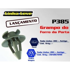 Grampo Forro Porta Ford Escort Royale Verona Versailles 50 Pcs 385