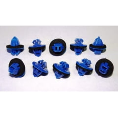 Grampo Alargador do Para-lama Azul Pequeno Hilux Rav4 10 Pcs 107