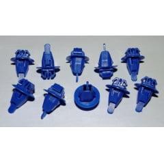 Grampo Alargador Para-lama Grande Azul Hilux 10 Pcs 105