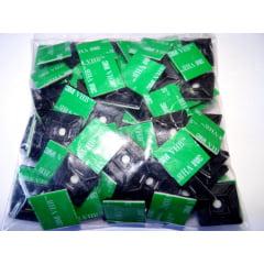 Fixador Auto Adesivo 25 x 25 mm Dupla Face NORBOND Pacote 100 Pcs