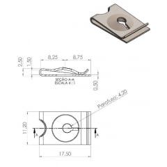 Porca Rapida 4.2 mm 17 X 11 X 2.5 mm 100 Pcs T02